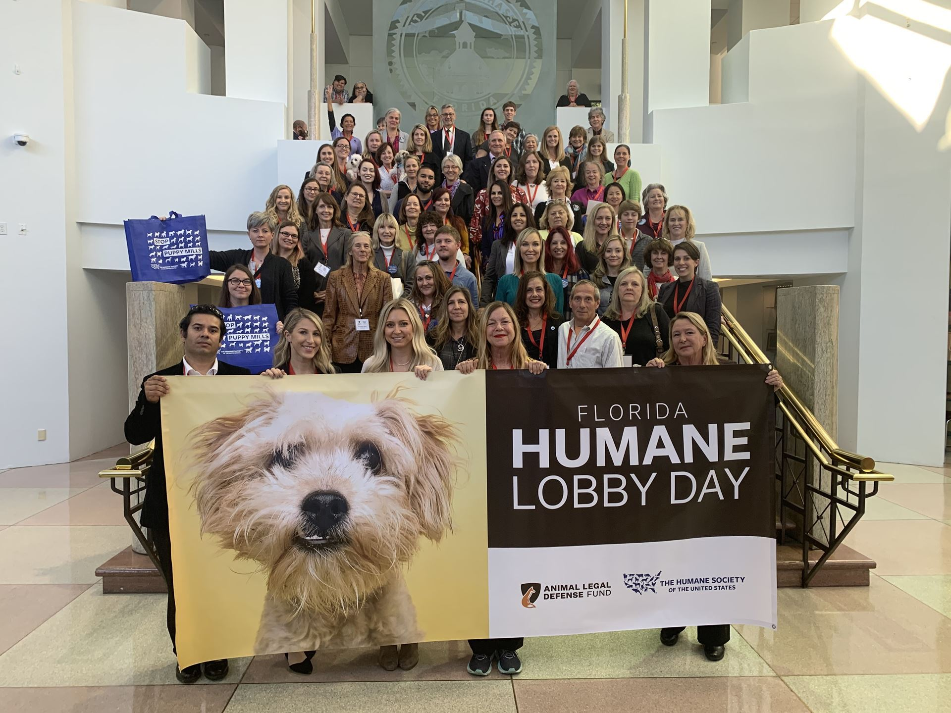 group photo, humane lobby day