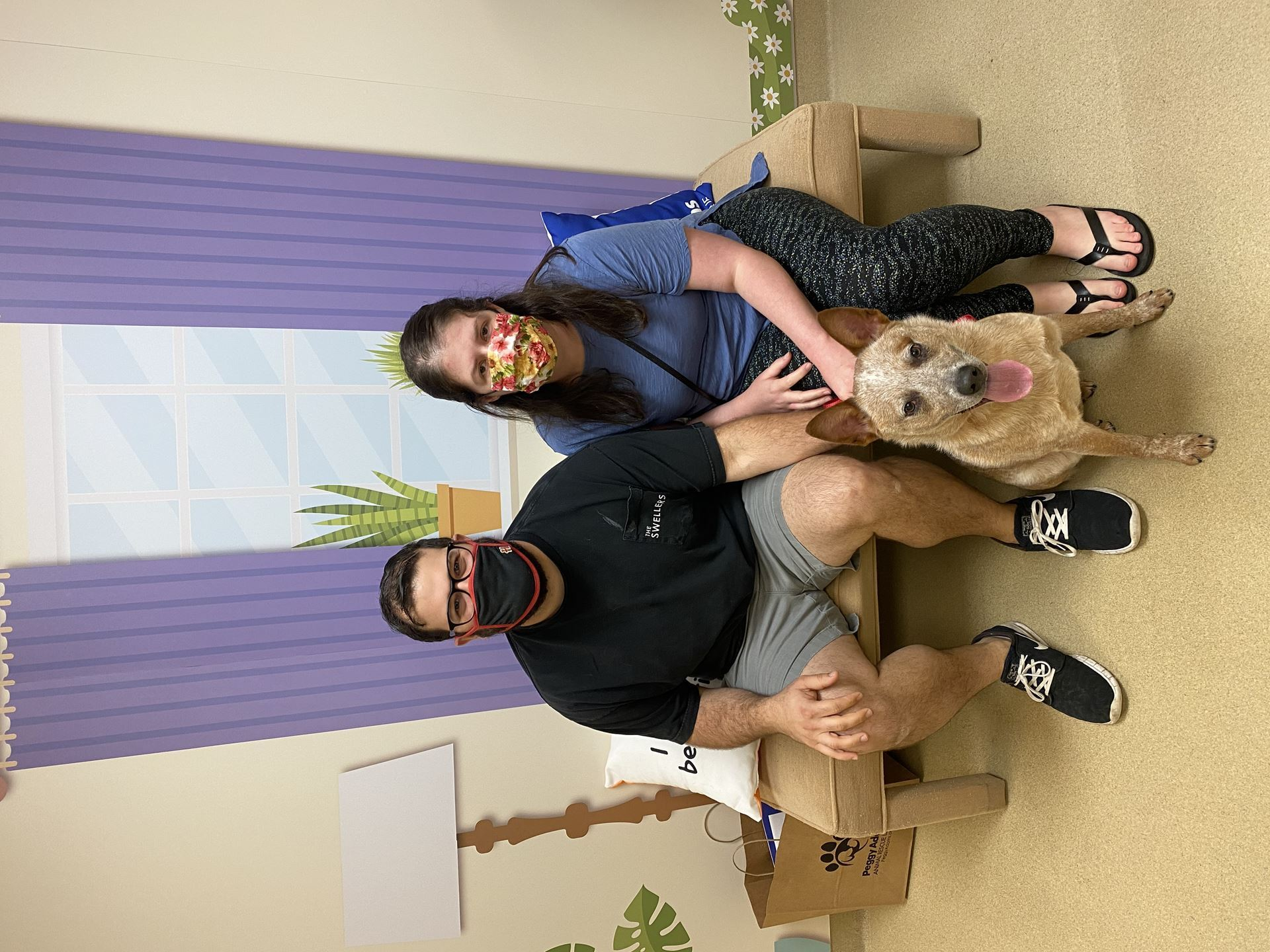 couple with adopted dog- Dirk
